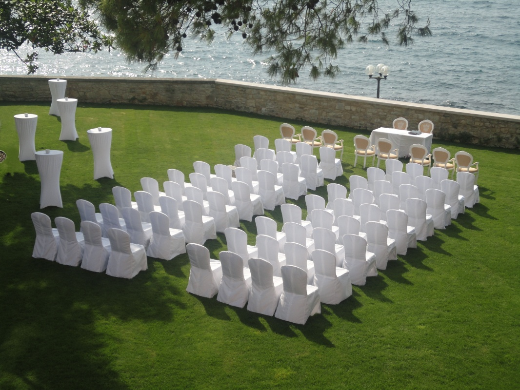 Villa Polesini_wedding set up